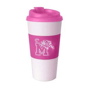 NCAA Pink Sleeved Travel Tumbler, 16-Ounce